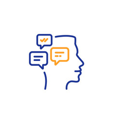 Chat messages line icon conversation sign vector
