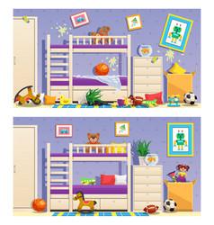 Children room interior banners vector