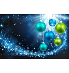 Christmas balls on a blue background vector