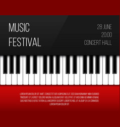 creative of piano keys art vector image