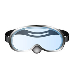 diving goggles in retro design vector image