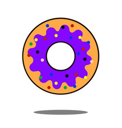 donut icon flat isolated symbol on shop topic vector image