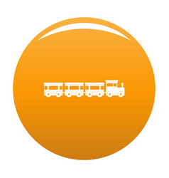 Express train icon orange vector