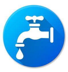 faucet blue circle icon design vector image