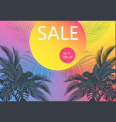 Flyer on sale leaves tropical palm vector