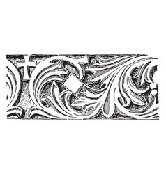 Frieze from st john studios is a carved frieze vector
