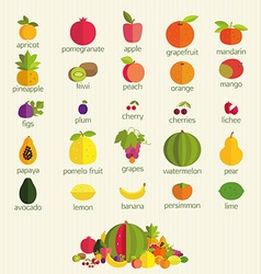 Fruits with names vector