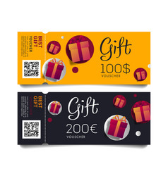 gift voucher template torn-off tickets oe vector image