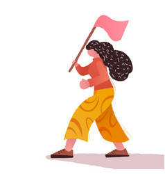 Girl power feminism concept vector