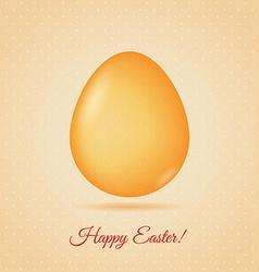 Glass egg Easter greetings card vector image
