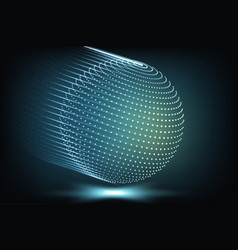 glowing particles background vector image