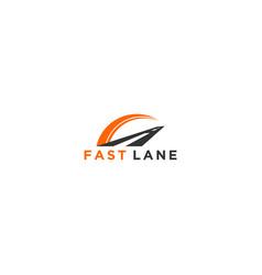 Highway fast lane modern logo design vector