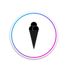 ice cream in waffle cone icon isolated on white vector image