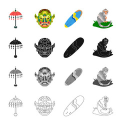 Isolated object of and travel logo set of and vector