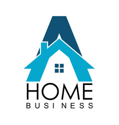 letter a home business logo vector image