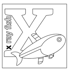 Letter X coloring page vector image vector image