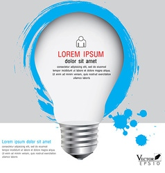 light bulb with infographics Modern template vector image