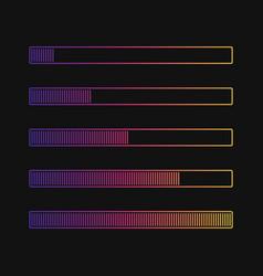 loading progress bar isolated on black vector image