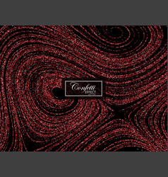 Luxury festive background with shiny red glitters vector