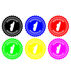 madagascar rubber stamp vector image