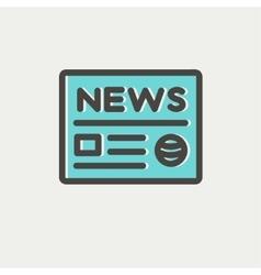 Newspaper thin line icon vector image