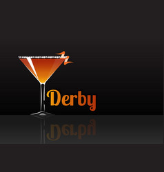 Official cocktail icon the unforgettable derby vector