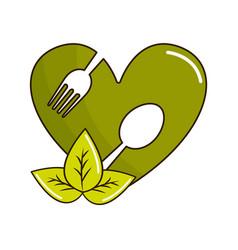 Organic food icon stock vector
