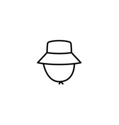 outdoor hat icon vector image