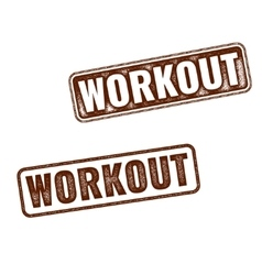 Realistic Workout grunge rubber stamps vector