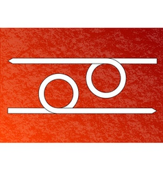 red background with white arrows vector image