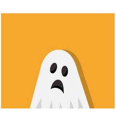 Scary ghost came to halloween vector