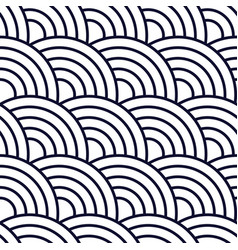 seamless geometric pattern with circles background vector image