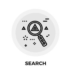 Search Line Icon vector