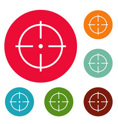 Selection of target icons circle set vector