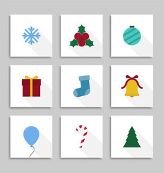 set contemporary christmas cards colorful xmas vector image