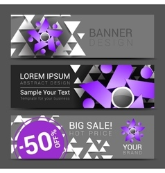 Set horizontal banners for your business ad to vector