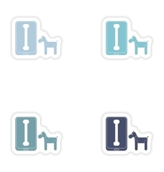 Set of paper stickers on white background mobile vector image