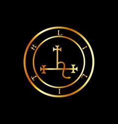 Sigil lilith- female demon lilith symbol in vector