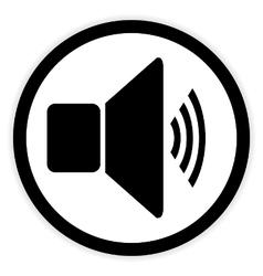 Speaker volume button vector image vector image