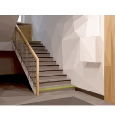 Stairs in Office or Entrance vector