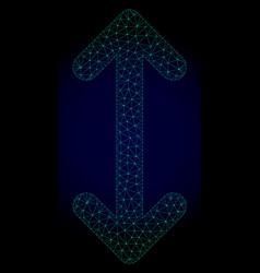 Swap arrows vertically polygonal frame mesh vector