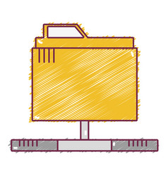 Technology data file folder server vector