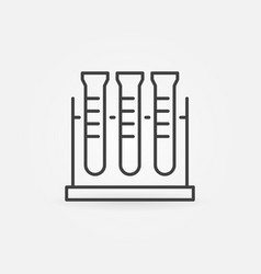 test tube rack linear icon chemistry vector image
