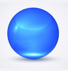 transparent blue sphere globe vector image
