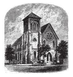 Trinity church vintage vector