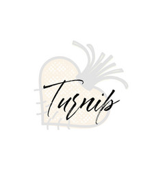 turnip word on background fruit web vector image