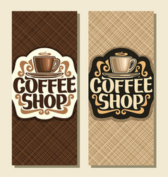 vertical banners for coffee shop vector image