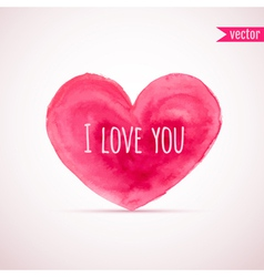 watercolor heart for Valentines day designs vector image