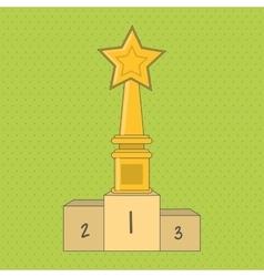 Winner and trophy design vector