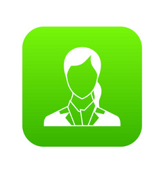 woman icon digital green vector image